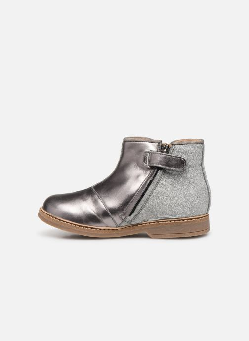 Ankle boots Pom d Api RETRO BACK Silver front view