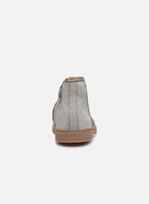 Ankle boots Pom d Api RETRO BACK Silver view from the right
