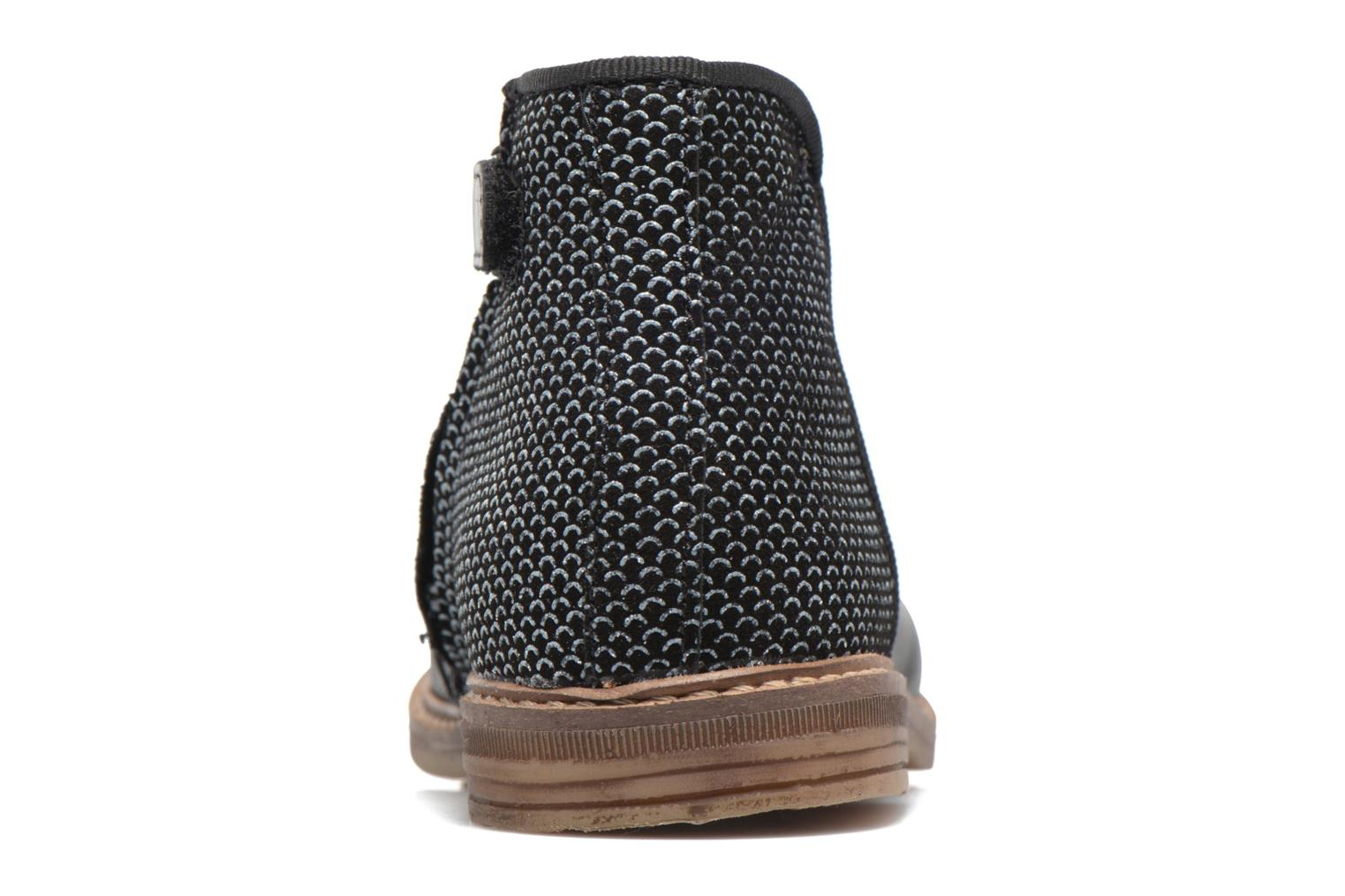 Ankle boots Pom d Api RETRO BACK Black view from the right