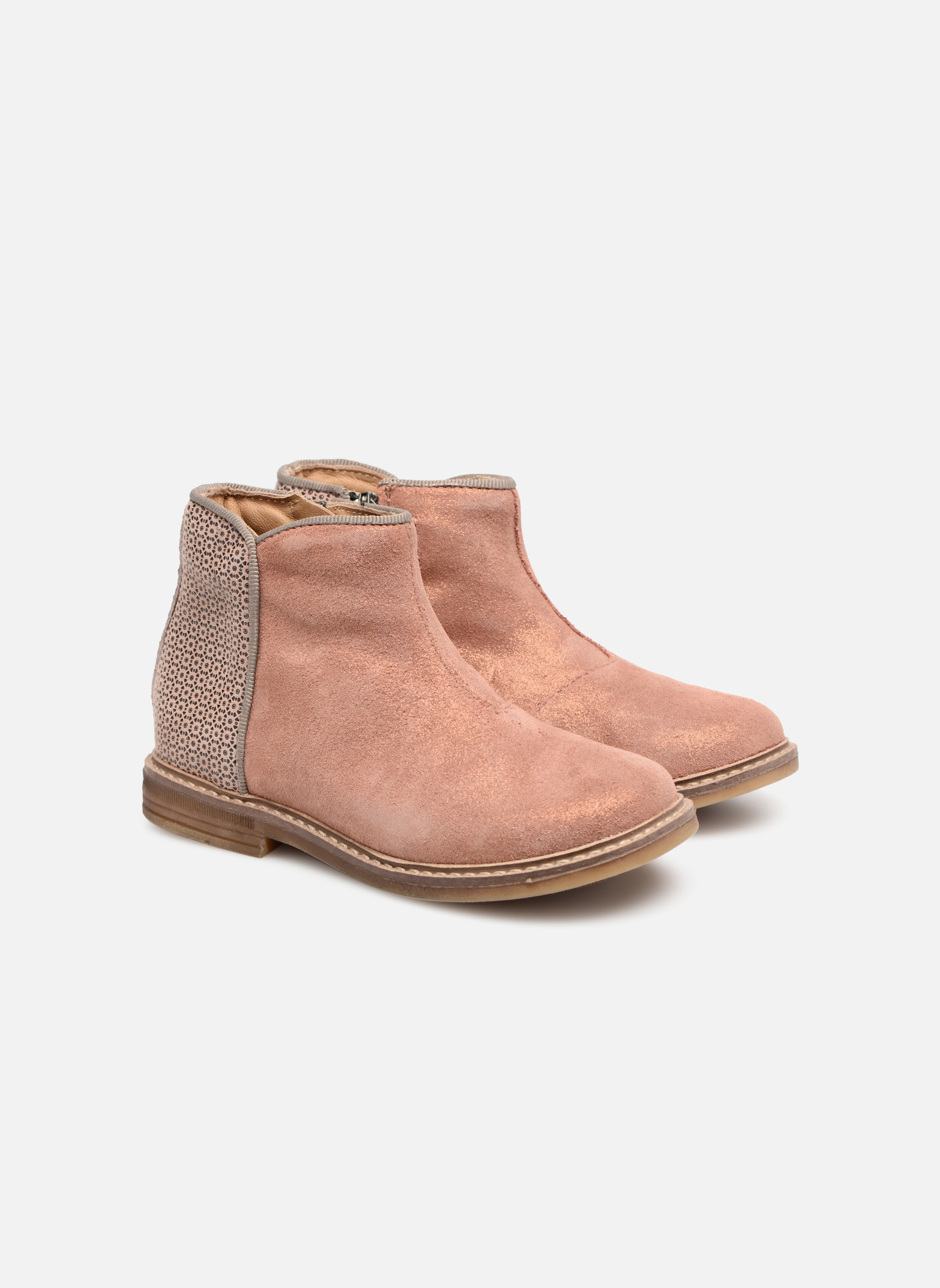 Ankle boots Pom d Api RETRO BACK Pink 3/4 view