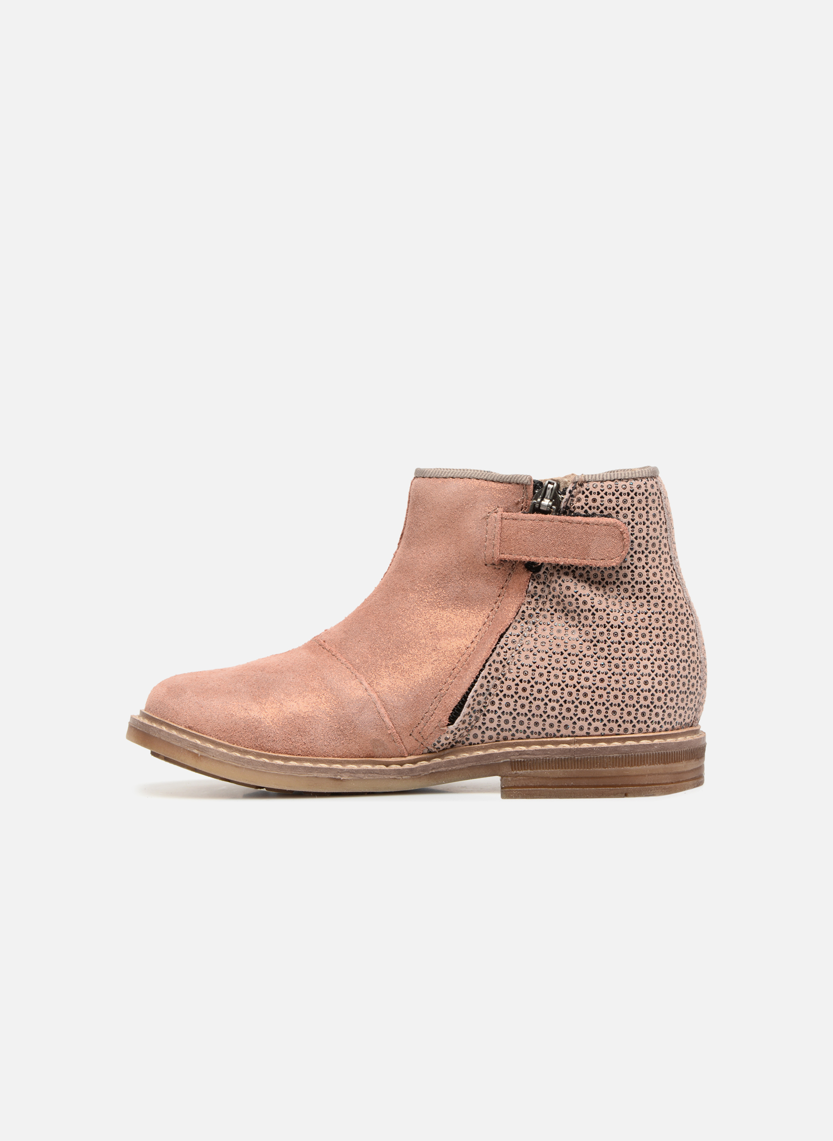 Ankle boots Pom d Api RETRO BACK Pink front view