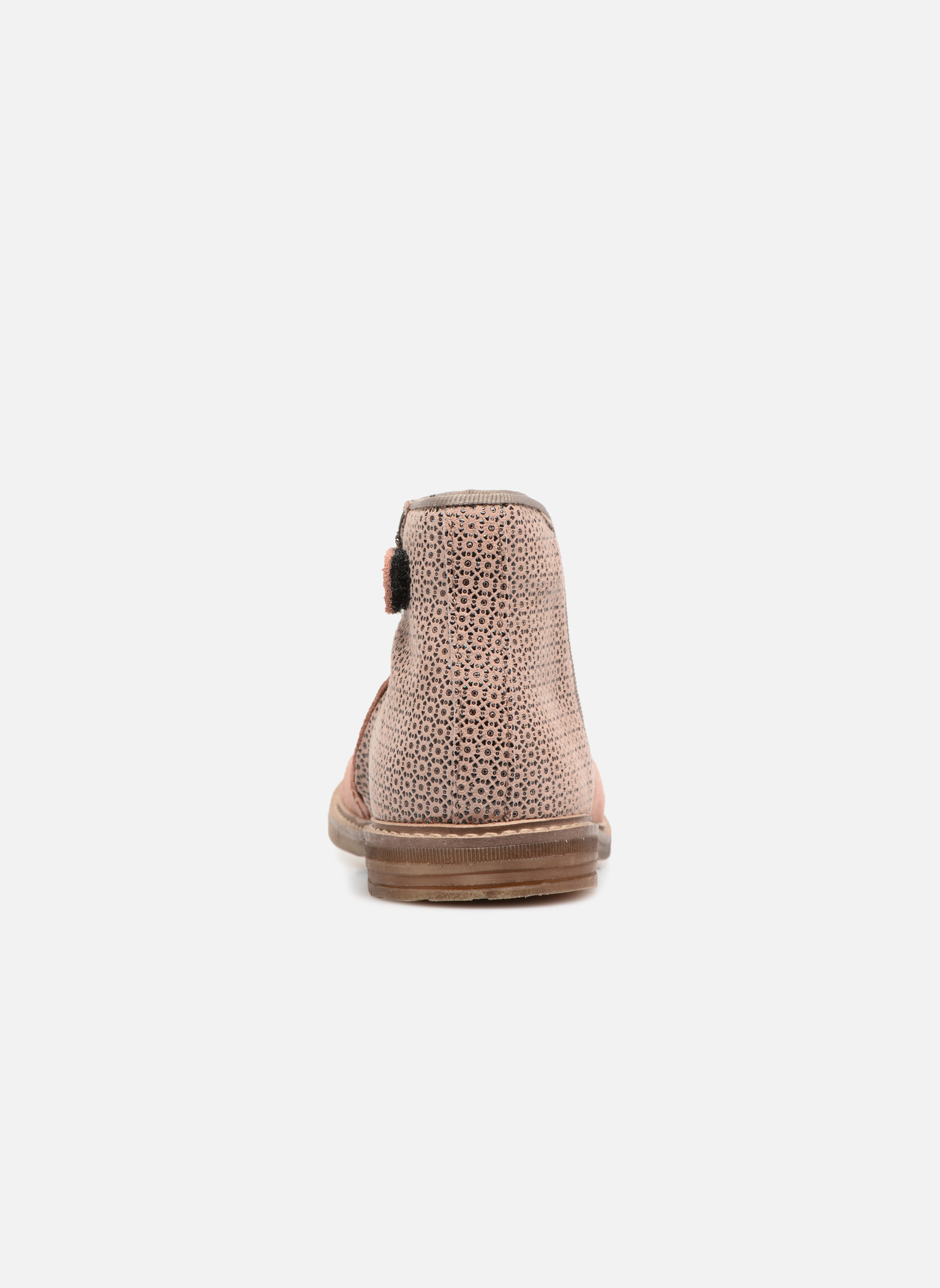 Ankle boots Pom d Api RETRO BACK Pink view from the right
