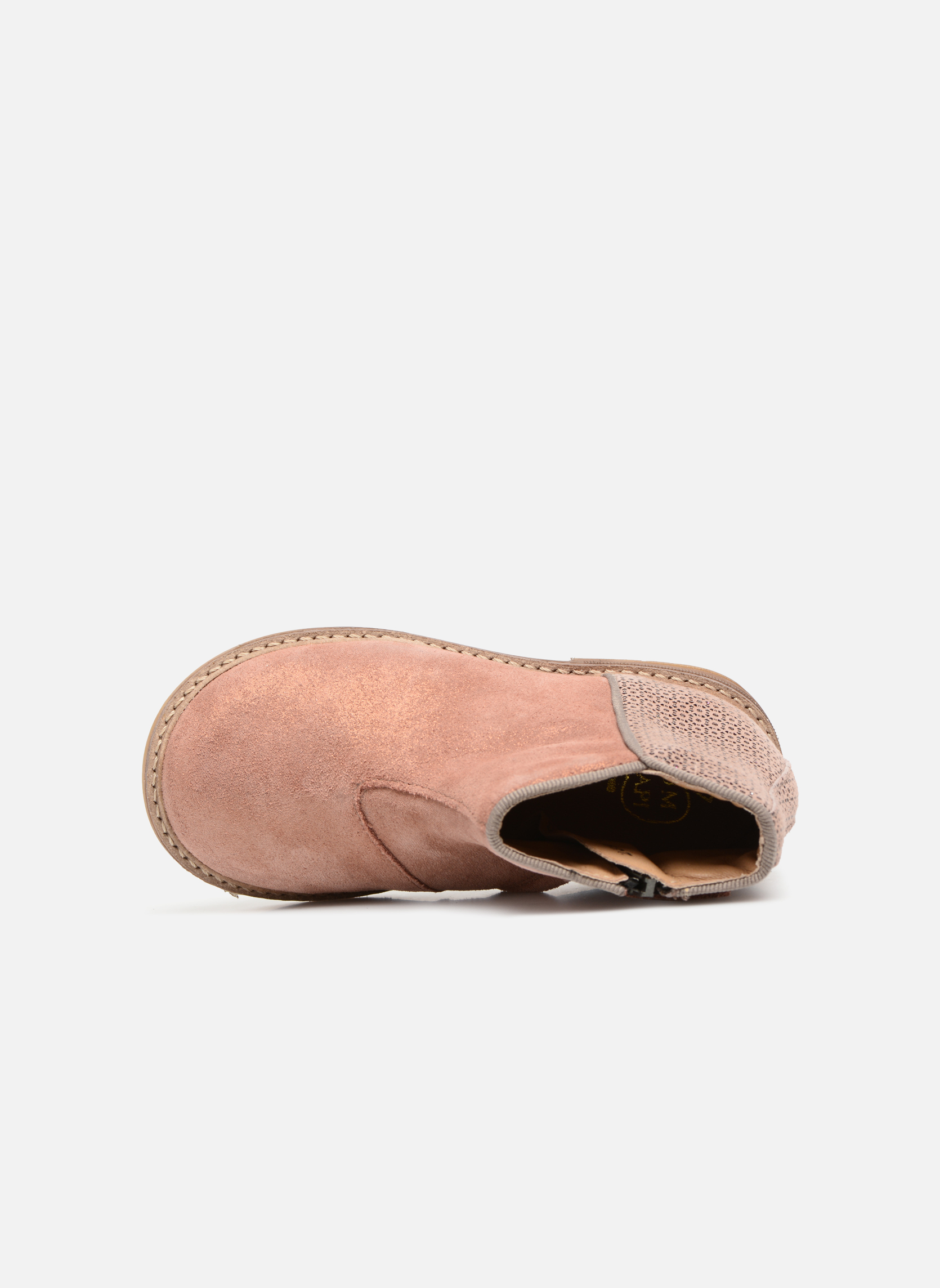 Ankle boots Pom d Api RETRO BACK Pink view from the left