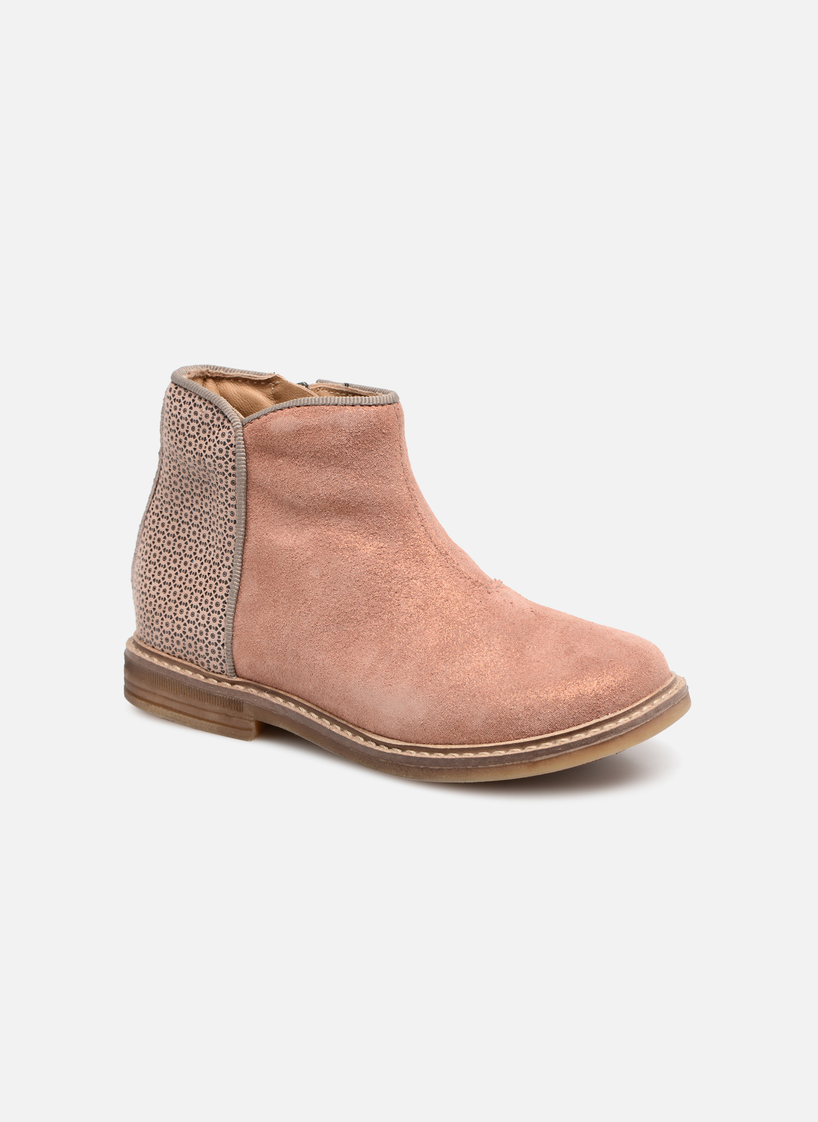Ankle boots Pom d Api RETRO BACK Pink detailed view/ Pair view