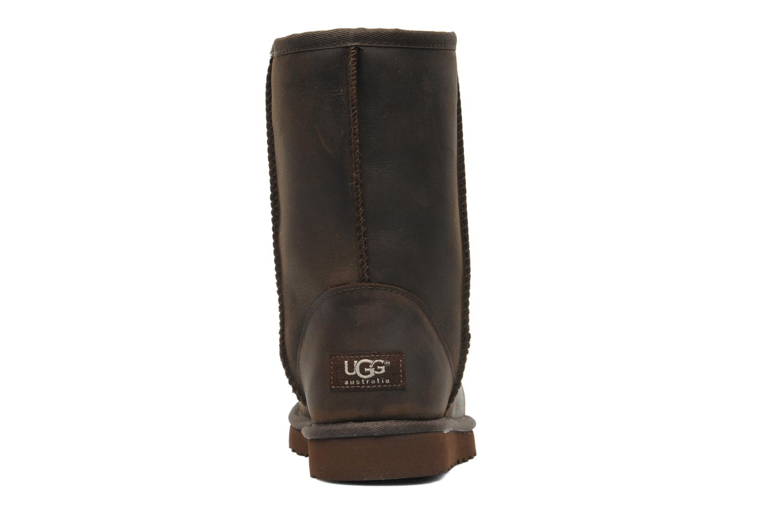 Ankle boots UGG Classic Short Leather Brown view from the right