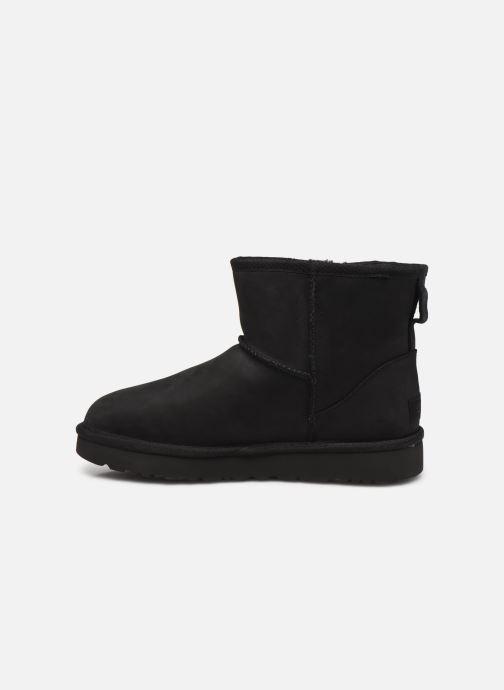 Boots en enkellaarsjes UGG Classic Mini Leather Zwart voorkant