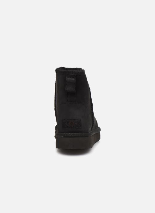 Botines  UGG Classic Mini Leather Negro vista lateral derecha