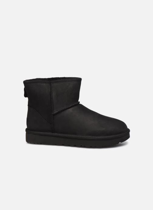 Boots en enkellaarsjes UGG Classic Mini Leather Zwart achterkant