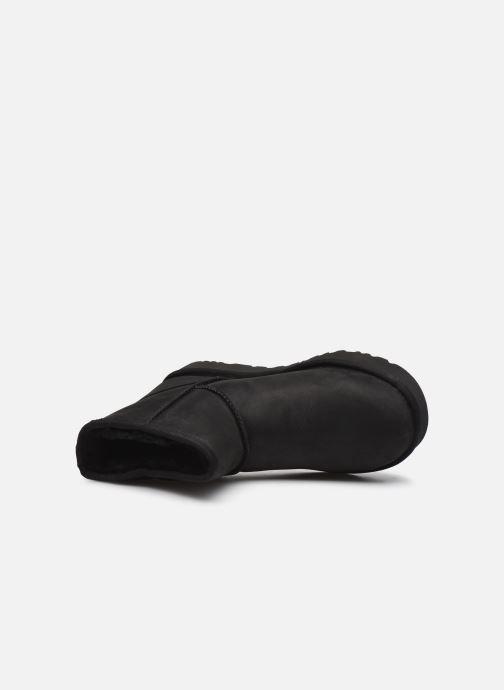 Boots en enkellaarsjes UGG Classic Mini Leather Zwart links