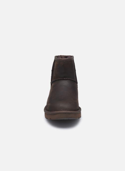 Botines  UGG Classic Mini Leather Marrón vista del modelo