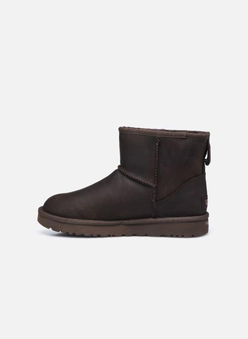 Boots en enkellaarsjes UGG Classic Mini Leather Bruin voorkant