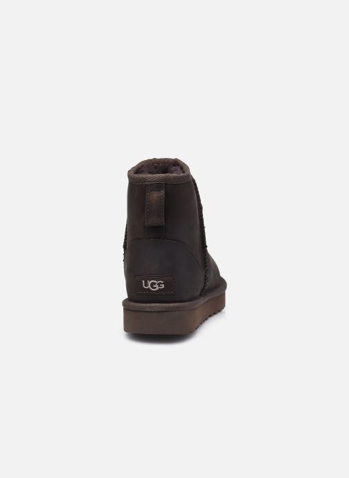 Botines  UGG Classic Mini Leather Marrón vista lateral derecha