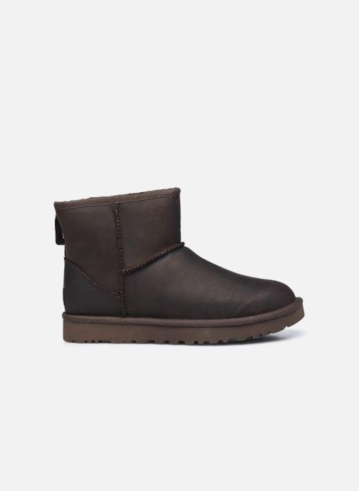 Botines  UGG Classic Mini Leather Marrón vistra trasera