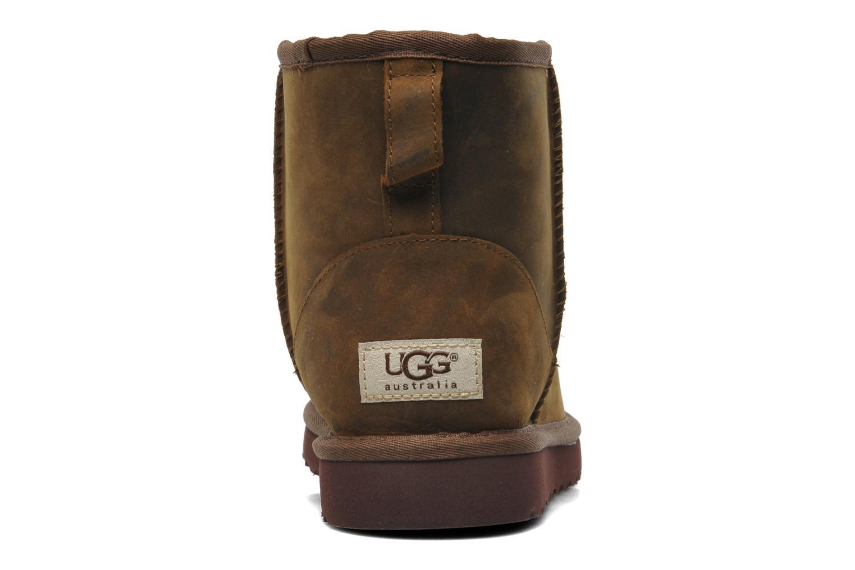 Bottines et boots UGG Classic Mini Leather Marron vue droite