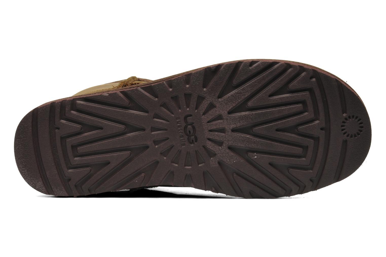 Bottines et boots UGG Classic Mini Leather Marron vue haut