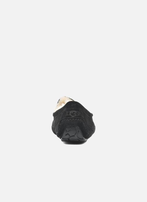Hausschuhe UGG Ascot schwarz ansicht von rechts