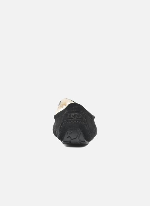Pantuflas UGG Ascot Negro vista lateral derecha