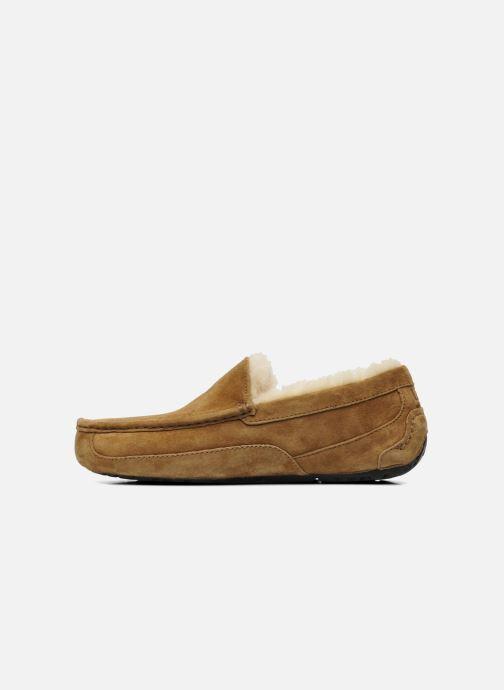 Pantoffels UGG Ascot Beige voorkant