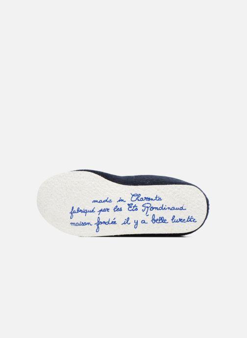 Chaussons Rondinaud Calmont M Bleu vue haut