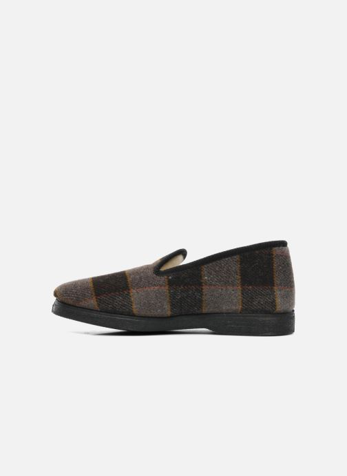 Slippers Rondinaud Donzac Brown front view