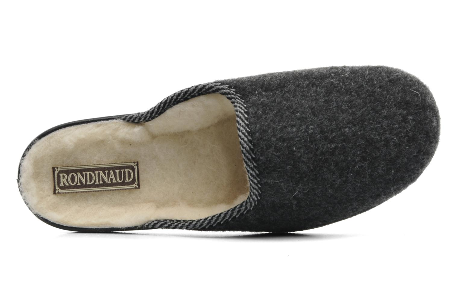 Slippers Rondinaud Gabillou Grey view from the left