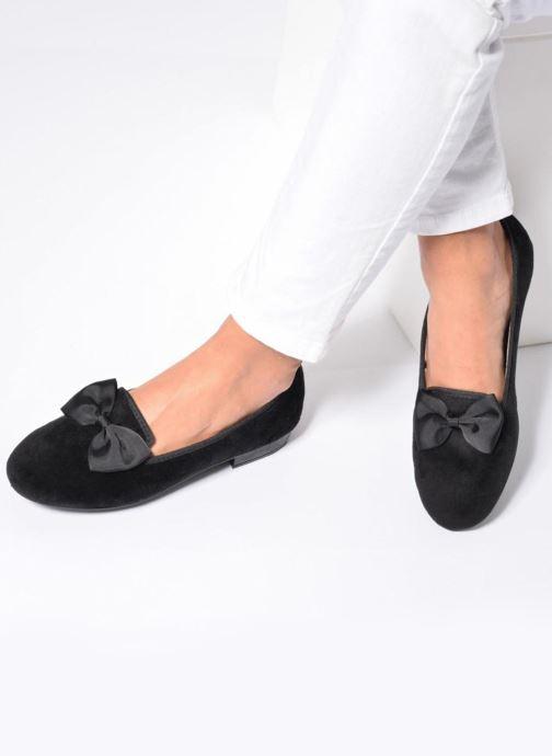 Pantofole Rondinaud Barberaz Nero immagine dal basso