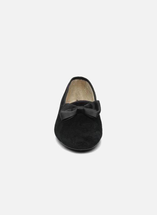 Pantofole Rondinaud Barberaz Nero modello indossato