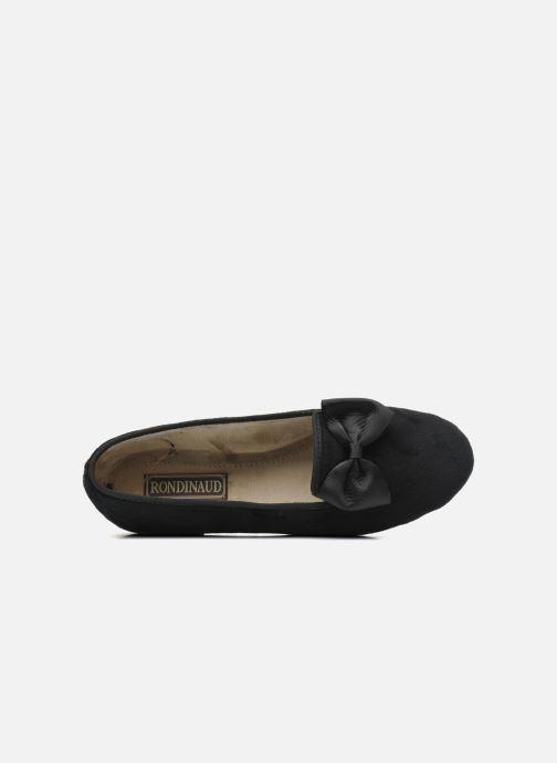 Pantofole Rondinaud Barberaz Nero immagine sinistra
