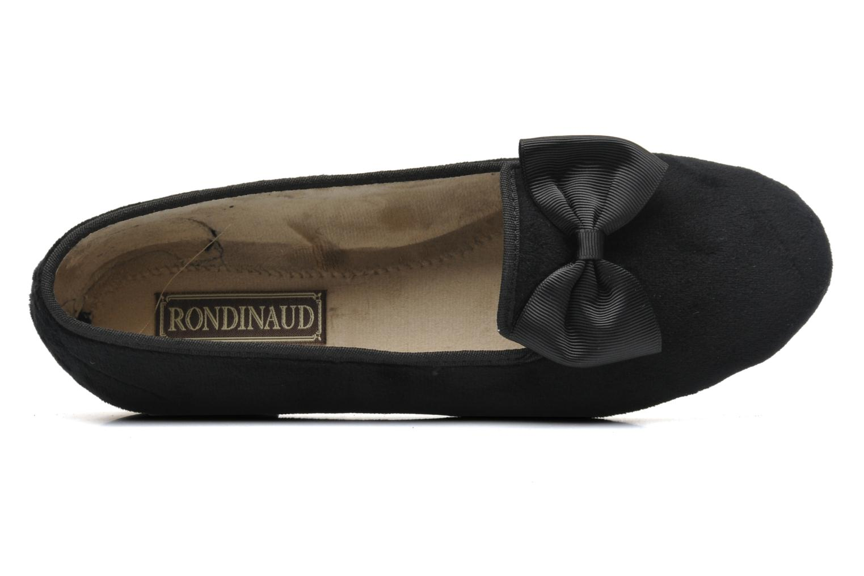 Pantuflas Rondinaud Barberaz Negro vista lateral izquierda