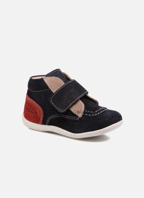 Kickers Kinderschoenen.Kickers Bono Blauw Schoenen Met Klitteband Chez Sarenza 308353