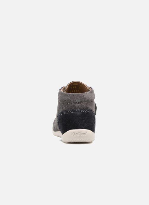 Chaussures à scratch Kickers Bono Gris vue droite