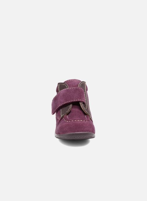 Chaussures à scratch Kickers Bono Violet vue portées chaussures