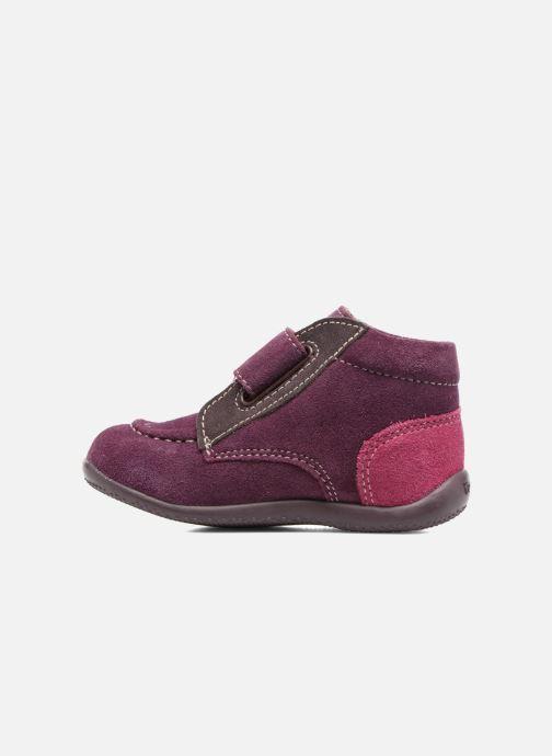 Zapatos con velcro Kickers Bono Violeta      vista de frente