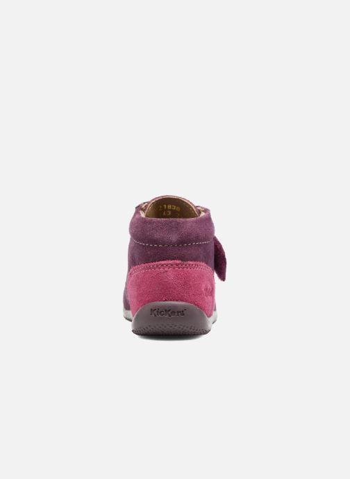 Zapatos con velcro Kickers Bono Violeta      vista lateral derecha