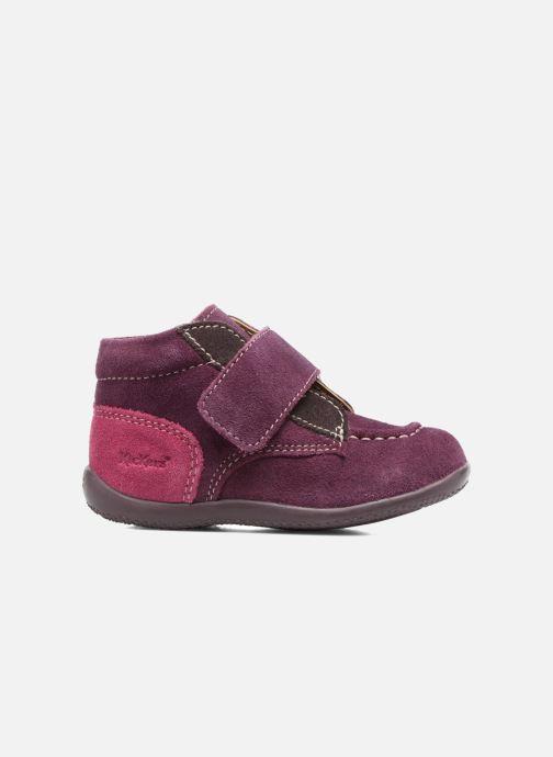 Schoenen met klitteband Kickers Bono Paars achterkant