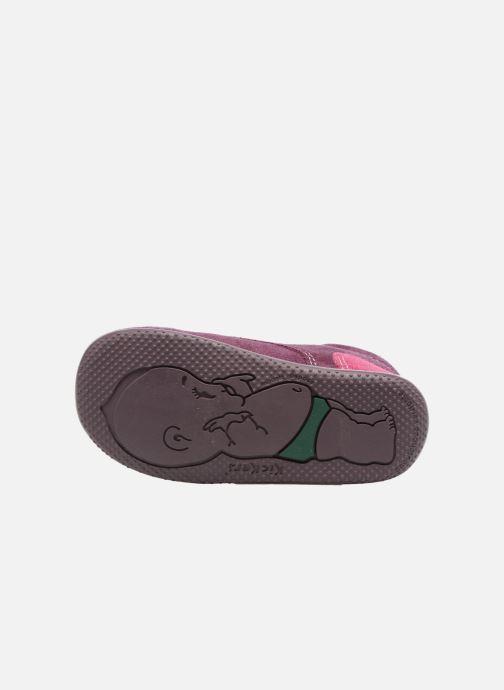 Chaussures à scratch Kickers Bono Violet vue haut