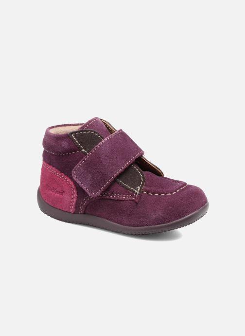 Schoenen met klitteband Kickers Bono Paars detail