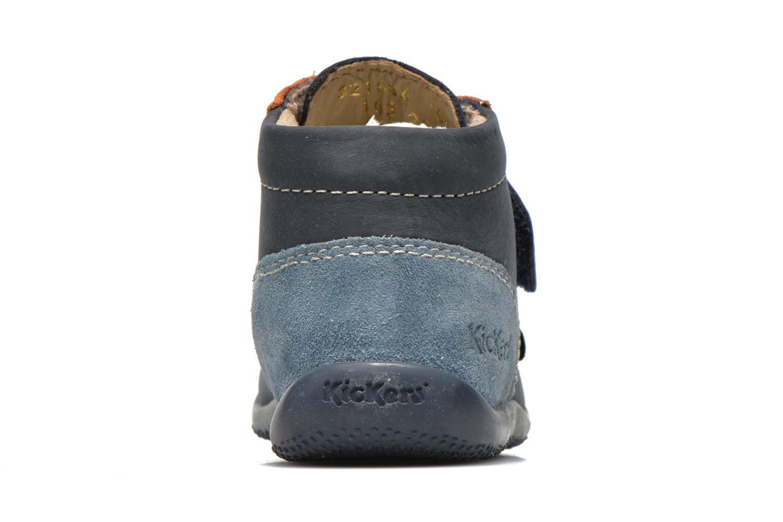 Chaussures à scratch Kickers Bono Bleu vue droite