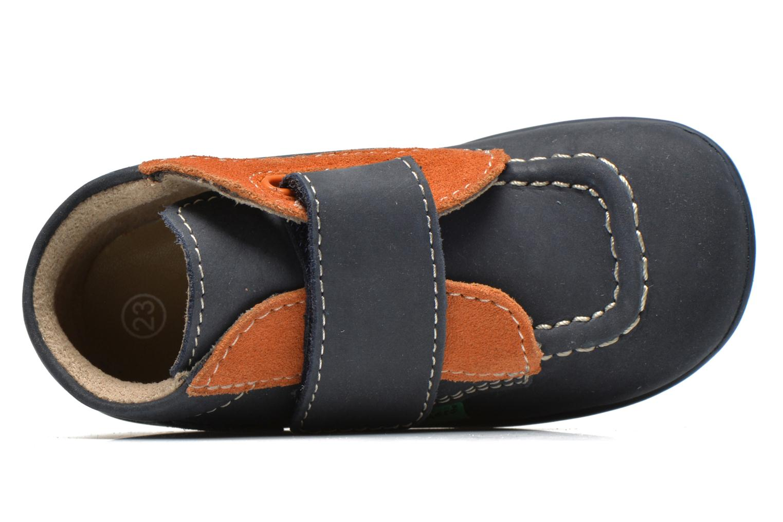 Chaussures à scratch Kickers Bono Bleu vue gauche