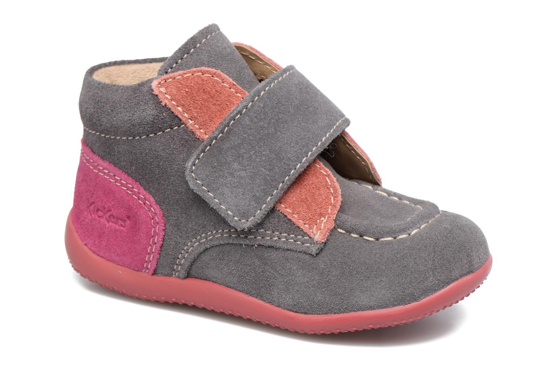 Chaussures à scratch Kickers Bono Gris vue détail/paire