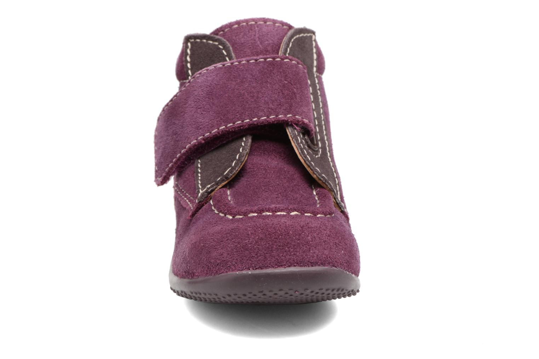 Skor med kardborrband Kickers Bono Lila bild av skorna på