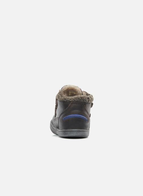 Chaussures à scratch Kickers Talker Cho Marron vue droite