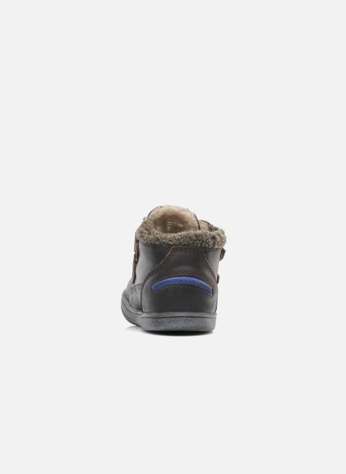 Schoenen met klitteband Kickers Talker Cho Bruin rechts