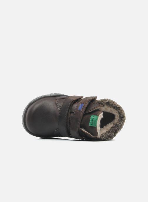 Chaussures à scratch Kickers Talker Cho Marron vue gauche