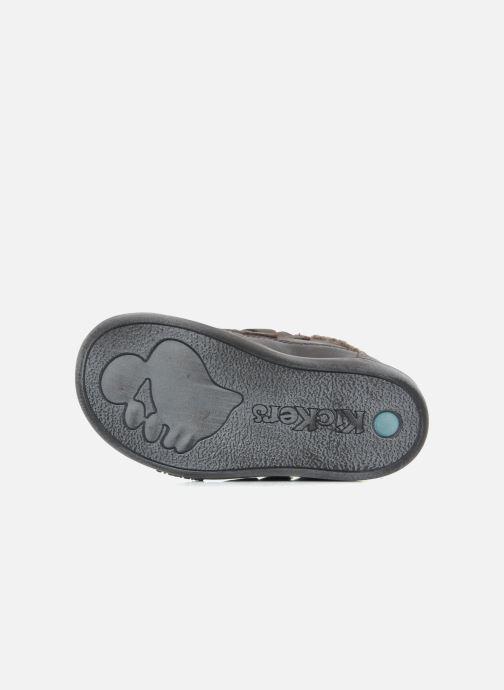 Chaussures à scratch Kickers Talker Cho Marron vue haut