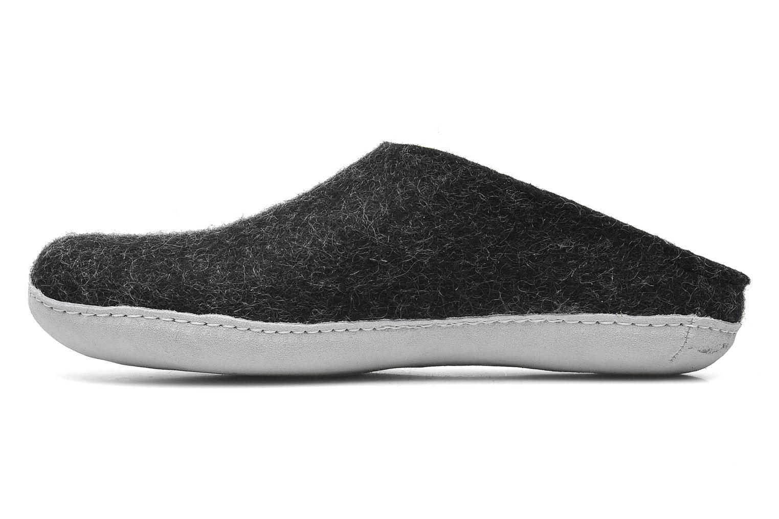 Slippers Glerups Piras M Black front view