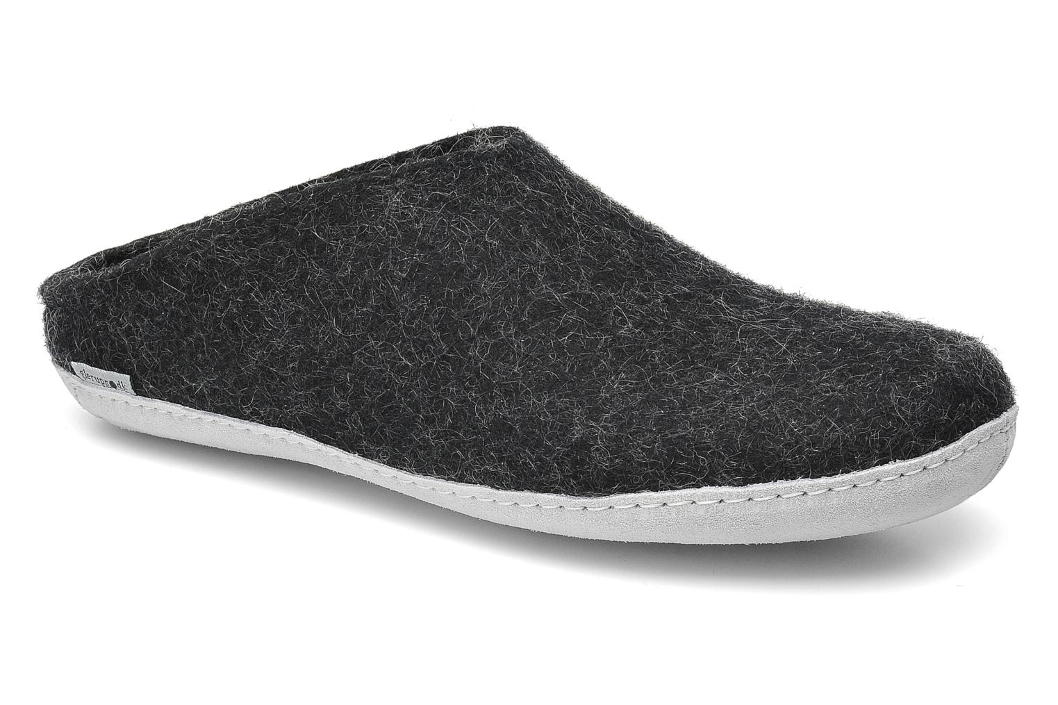 Slippers Glerups Piras M Black detailed view/ Pair view