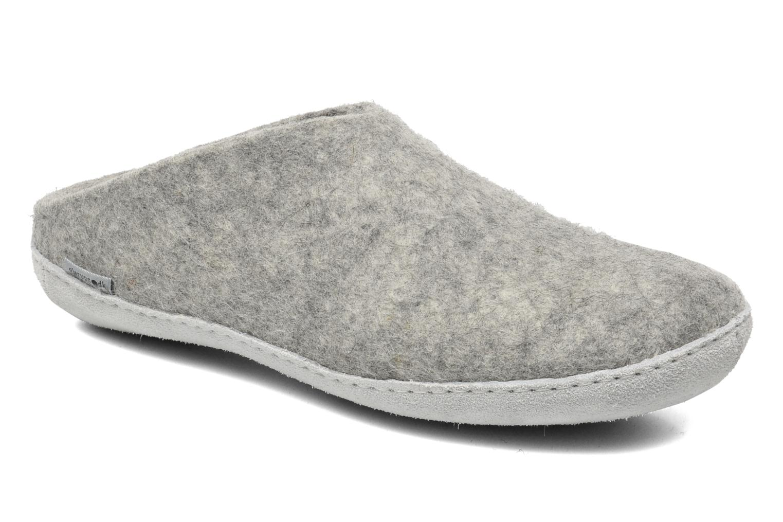 Slippers Glerups Piras M Grey detailed view/ Pair view