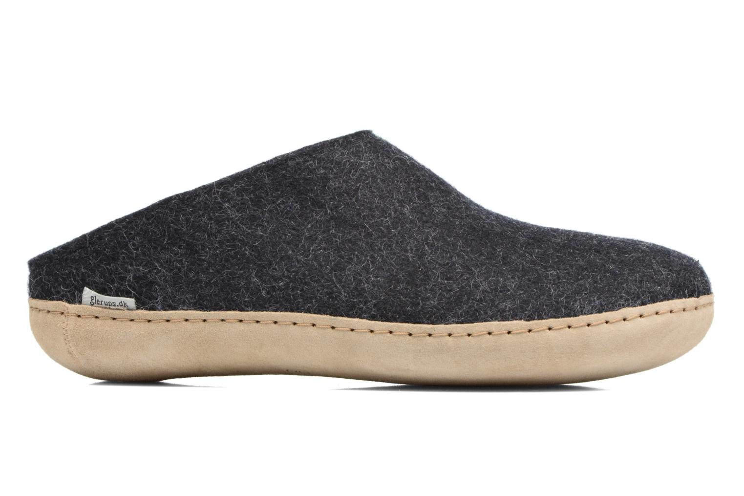 Slippers Glerups Piras M Black view from the right