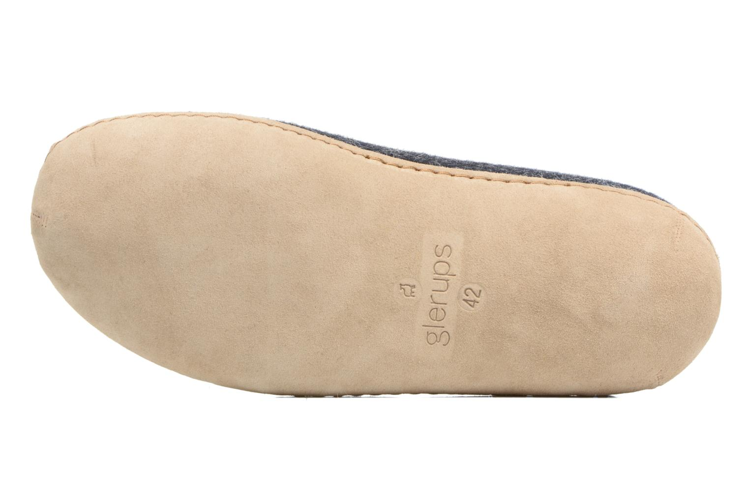 Slippers Glerups Piras M Black view from above